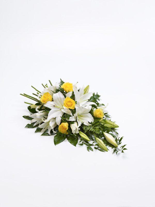 Rose Y Lily Spray - Amarillo Y Blanco