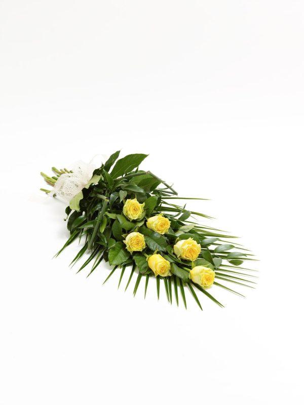 Hoja De Rosa Simple - Amarillo