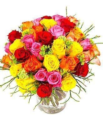 Colorful Bqt- Short Roses