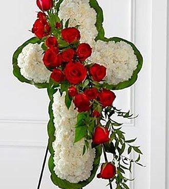 Floral Cross Easel